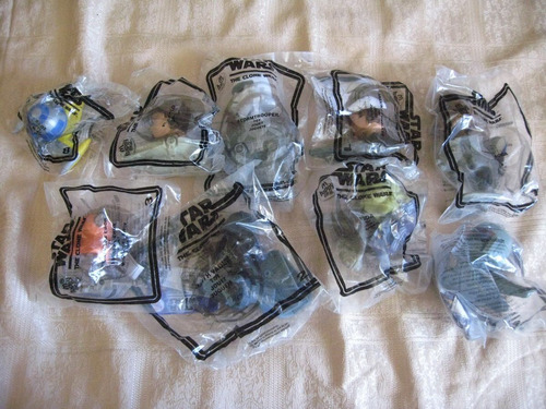 2008 mcdonalds star wars the clone wars 9 figures lot
