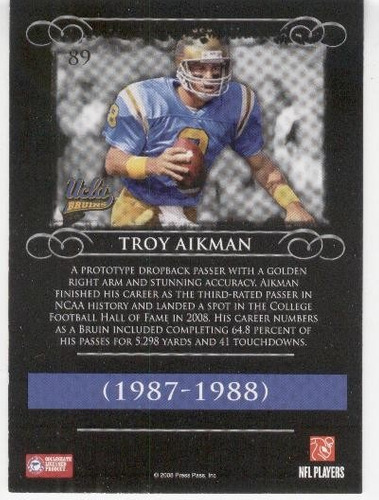 2008 press pass legends troy aikman dallas cowboys