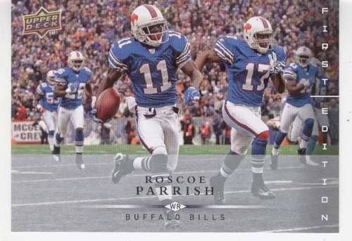 2008 ud first edition roscoe parrish buffalo bills