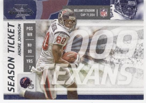 2009 playoff contenders season ticket andre johnson texans