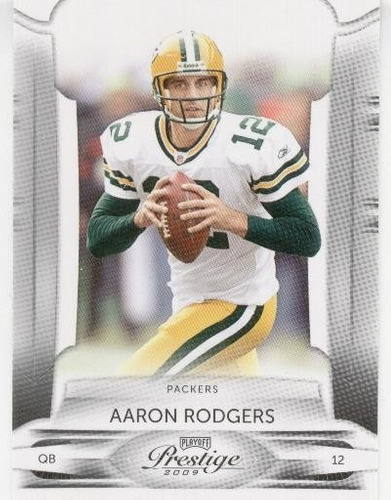 2009 playoff prestige aaron rodgers green bay packers