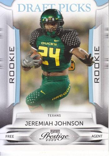 2009 prestige blue rookie jeremiah johnson rb texans /999