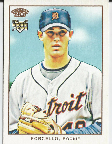 2009 topps 206 #72a rick porcello rookie p tigers