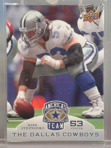 2009 upper deck america's team #76 mark stepnoski vaqueros