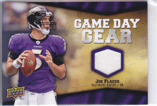 2009 upper deck game day gear jersey joe flacco qb ravens