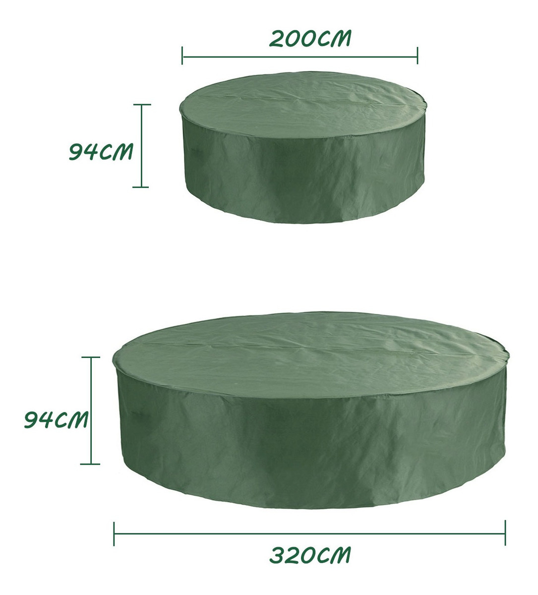200*94//320*94cm Round Table /& Chair Set 6//8 Cover Outdoor Waterproof Dustproof