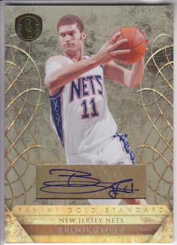 2010-11 gold standard autografo brook lopez 78/99 nets