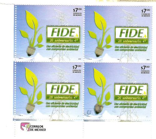 2010 aniversario de la creaciòn del fide block de 4 sellos