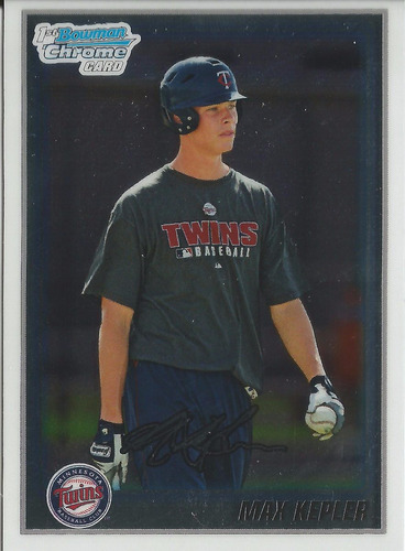 2010 bowman chrome prospects max kepler rc of twins