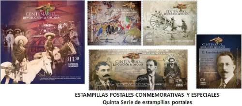 2010 centenario de la rvolución mexicana 8/sellos 2/hojillas