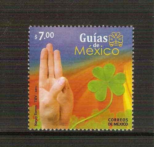 2010 guías de méxico niñas y mujeres scouts sello nuevo