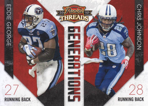 2010 threads generations eddie george chris johnson titans