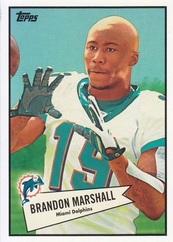 2010 topps 1952 bowman style brandon marshall wr dolphins