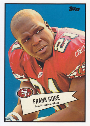 2010 topps 1952 bowman style frank gore rb 49ers