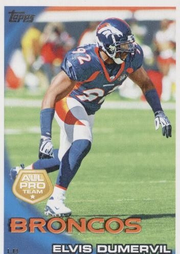 2010 topps all pro elvis dumervil denver broncos