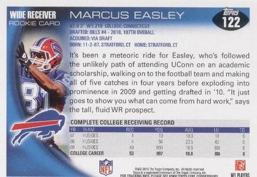 2010 topps marcus easley rc buffalo bills