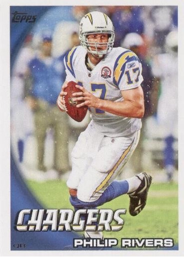 2010 topps philip rivers san diego chargers