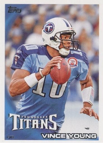 2010 topps vince young tennessee titans qb