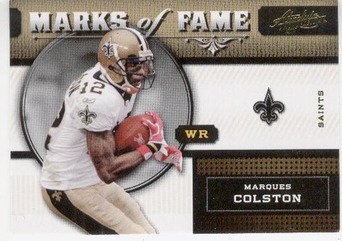 2011 absolute marks of fame marques colston saints