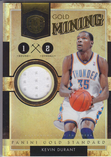 2011 gs gold mining jersey kevin durant 254/299 okc thunder