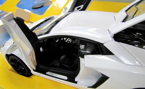 2011 lamborghini aventador lp700 white  escala 1/18 rastar