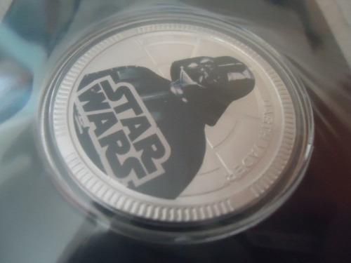 2011 lucasfilm newzealandmint silver plated coin darth vader