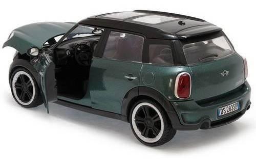 2011 mini cooper s coutryrman verde - escala 1:24 - motormax