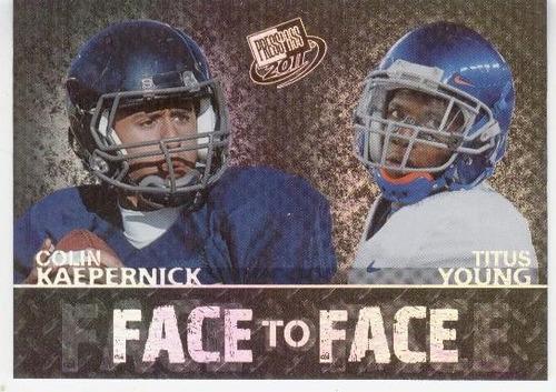 2011 press pass face to face colin kaepernick titus young rc