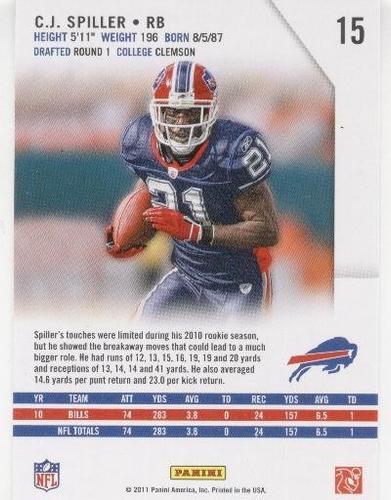 2011 rookies & stars c. j. spiller buffalo bills