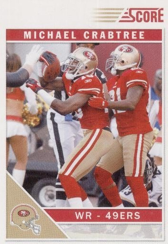 2011 score glossy michael crabtree san francisco 49ers