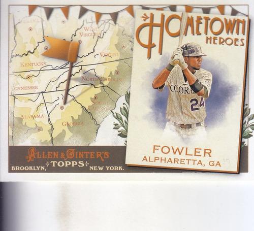 2011 topps allen & ginter hometown heroes dexter fowler rock