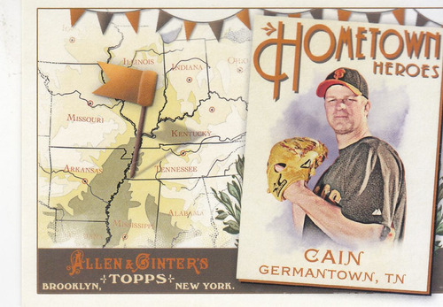 2011 topps allen & ginter's hometown h matt cain giants