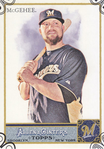 2011 topps allen & ginter's parallel casey mcgehee brewers