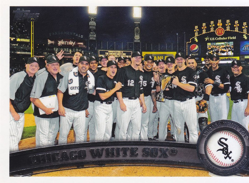2011 topps chicago white sox team