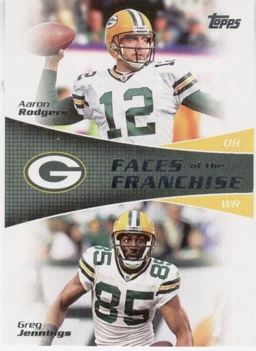 2011 topps faces aaron rodgers greg jennings packers
