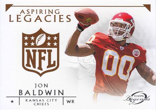 2011 topps legends al rookie jon baldwin wr chiefs