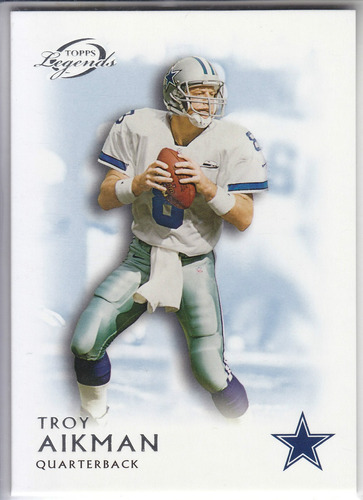 2011 topps legends blue thick retired troy aikman cowboys