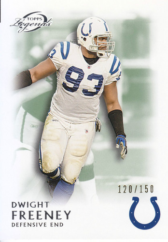 2011 topps legends green dwight freeney 120/150 de colts