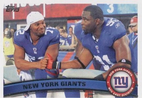 2011 topps team new york giants