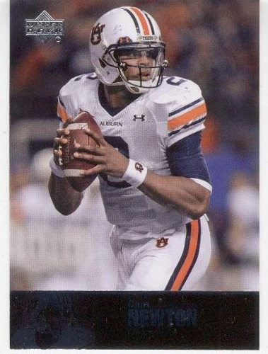 2011 u d college legends cam newton rookie panthers