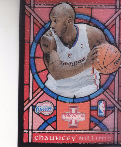 2012-13 panini innovation stained glass #3 chauncey billups