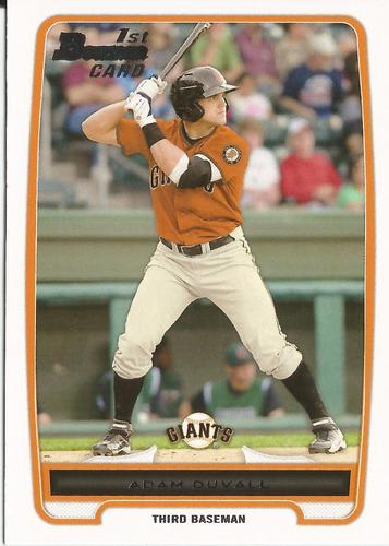 2012 bowman prospects adam duvall rc 3b giants