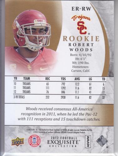 2012 exquisite rookie robert woods wr bills 168/175