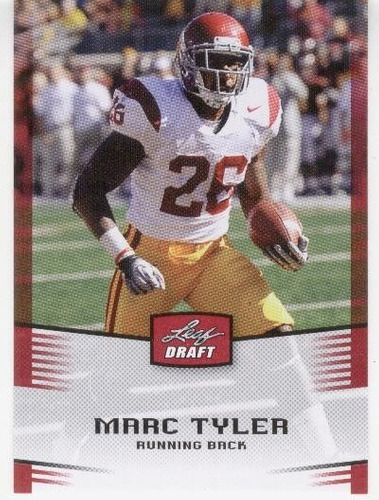 2012 leaf draft marc tyler rc green bay packers