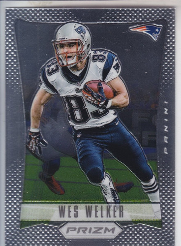 2012 panini prizm wes welker wr new england patriots