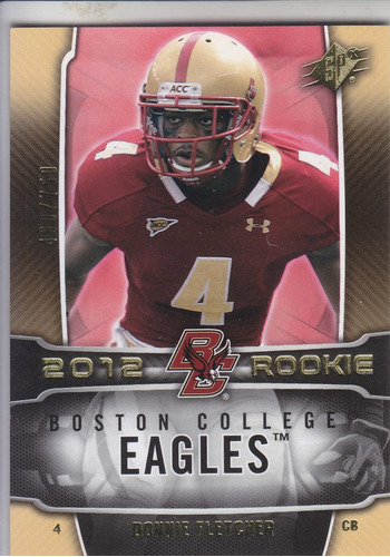 2012 spx rookie donnie fletcher cb ny jets /750
