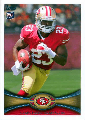 2012 topps #185a lamichael james rc 49ers
