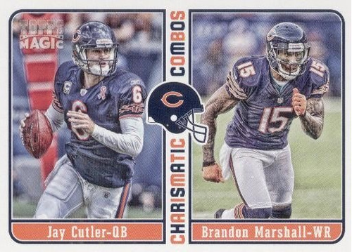 2012 topps magic charismatic combos cutler marshall bears