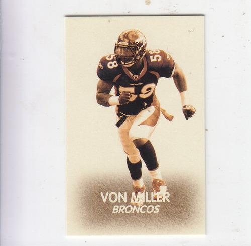 2012 topps magic mini 48 design von miller denver broncos