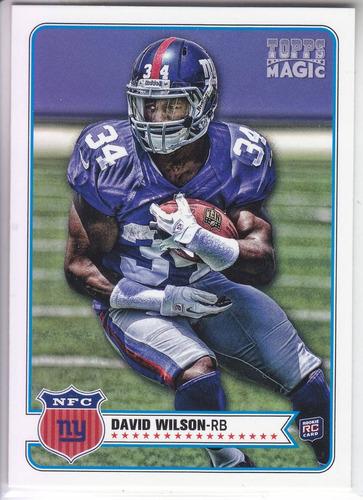 2012 topps magic rookie david wilson rb ny giants